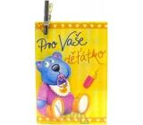 Nekupto Darčeková kartička Pre Vaše dieťatko 7 x 5,5 cm 1 kus