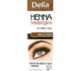 Delia Henna barva na obočí a řasy Hnědá 2 g
