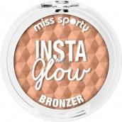 Miss Sporty Insta Glow Bronzer púder 001 Sunkissed Blonde 5 g