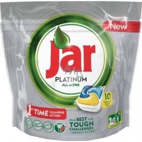 Jar Platinum All in One Lemon Kapsule do umývačky riadu 10 kusov