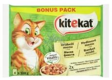Kitekat Hydinové menu kapsička pre dospelé mačky 4 x 100 g