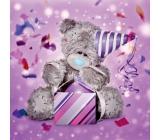 Me to You Přání do obálky 3D Medvěd s narozeninovým čepcem 15,7 cm × 15,7 cm