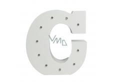 Nekupto Dřevěné LED písmeno C dekorace 16 cm