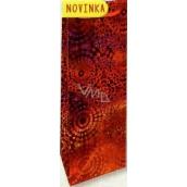 Nekupto Darčeková papierová taška na fľašu 33 x 10 x 9 cm Červená hologramová 121 30 THLH