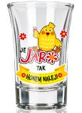 Nekupto Smiech Jarné panáčik sklenený darčekový veľkonočné panák Je jar 40 ml