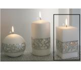 Lima Hologram sviečka biela hranol 65 x 120 mm 1 kus