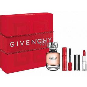 Givenchy L Interdit toaletná voda pre ženy 50 ml + riasenka 4 g + rúž 1,5 g, darčeková sada