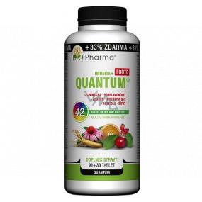 Bio Pharma Quantum Imunita + Forte 42 zložiek od vitamínu A až po železo multivitamín s minerálmi doplnok stravy 120 tabliet
