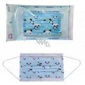 Rúška jednorazová 3-vrstvová pre deti modrá 5 kusov