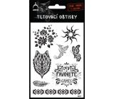 Arch Tetovacie obtlačky Čierne kvit 9,5 x 16 cm