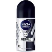 Nivea Men Invisible Black & White Power kuličkový antiperspirant deodorant roll-on pro muže 50 ml