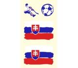 Arch Tetovacie obtlačky na tvár i telo Slovensko vlajka 1 motív