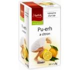 Apotheke Natur Pu-erh a citrón čaj napomáha v boji s nadváhou 20 x 1,8 g