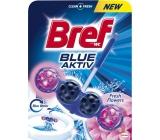Bref Blue Aktiv Fresh Flowers WC blok na hygienickú čistotu a sviežosť Vašej toalety, obarvuje vodu do modrého odtieňa 50 g