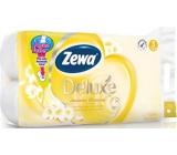 Zewa Deluxe Aqua Tube Jasmine Blossom parfémovaný toaletní papír 3 vrstvý 150 útržků 8 kusů, rolička, kterou můžete spláchnout