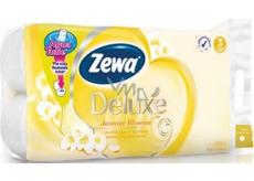 Zewa Deluxe Aqua Tube Jasmine Blossom parfumovaný 3 vrstvový 150 útržkov 8 kusov, rolička, ktorú môžete spláchnuť