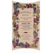 Bohemia Gifts & Cosmetics Wine Spa Vínna kozmetika s glycerínom a extrakty z hrozna vínnej révy ručne vyrobené toaletné mydlo v papierovej krabičke 100 g