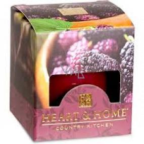 Heart & Home Šťavnaté moruše Sójová vonná sviečka bez obalu horí až 15 hodín 53 g