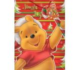 Ditipo Darčeková papierová taška 26 x 13,5 x 32 cm Disney Medvedík Pú Jingle Joy