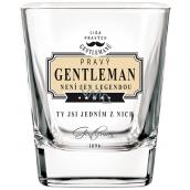 Nekupto Liga Pravých Džentlmenov Whisky pohár Pravý Gentleman nie je len legendou, ty si jedným z nich 7 x 7 x 9 cm
