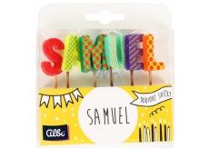 Albi Tortové sviečky meno - Samuel, 2,5 cm