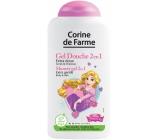 Corine de Farmu Disney Princezná 2v1 šampón na vlasy a sprchový gél pre deti 250 ml