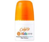 Calypso Kids Coloured Blue SPF50 modrej vodeodolné mlieko na opaľovanie roll-on pre deti 50 ml