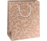 Ditipo Darčeková papierová taška 18 x 10 x 22,7 cm Vianočná medená - hnedé vetvičky