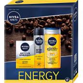 Nivea Men Active Energy voda po holení 100 ml + sprchový gél 250 ml + antiperspirant sprej 150 ml, kozmetická sada pre mužov