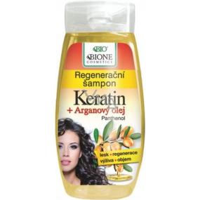 Bion Cosmetics Keratín & Arganový olej regeneračný šampón 260 ml