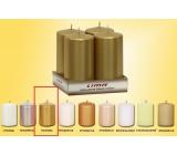 Lima Sviečka hladká metal zlatá valec 50 x 100 mm 4 kusy