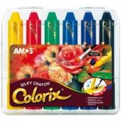 Amos Colorix krajony, rozmývatelné farby, 6 kusov v puzdre