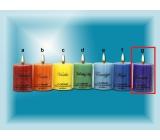 Lima Čakra Levandule vonná svíčka fialová válec 50 x 65 mm 120 g