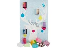 Bomb Cosmetics Adventní kalendář mix balistiků, kousků mýdel, kuliček a špalíčků 24 kusů 432 g, kosmetická sada