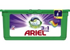Ariel 3v1 Color gelové kapsle na praní prádla chrání a oživují barvy 28 kusů 837,2 g