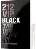 DÁREK Carolina Herrera 212 VIP Men Black parfémovaná voda s rozprašovačem 1,5 ml, Vialka