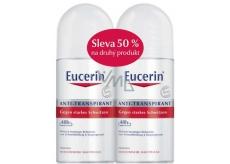 Eucerin 48h kuličkový antiperspirant deodorant roll-on bez alkoholu pro citlivou pleť 2 x 50 ml, duopack