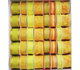 Ditipo Stuha látková s drôtikom žlto zelená priesvitná 3 mx 25 mm