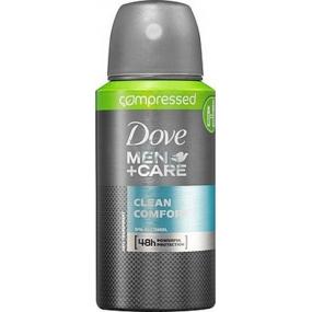 Dove Men + Care Clean Comfort 48h komprimované antiperspirant deodorant sprej 75 ml