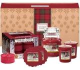 Yankee Candle Christmas Magic - Vianočné kúzlo vonná sviečka Classic malá sklo 104 g + votívny sviečka 2 x 49 g + vonný vosk 2 x 22 g + čajová sviečka 12 x 9,8 g, vianočné darčeková sada