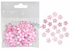 Kvetinky samolepiace ružové 2 cm 20 kusov