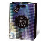BSB Luxusná darčeková papierová taška 36 x 26 x 14 cm Všetko najlepšie k narodeninám LDT 415 - A4