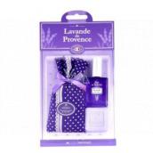 Esprit Provence Levanduľa vrecúško s levanduľou bodkami + toaletné mydlo 25 g + toaletná voda miniatura 5 ml, darčeková sada