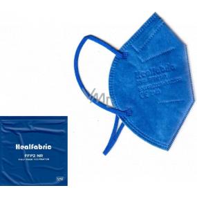 Healfabric Respirátor ústnej ochranný 5-vrstvový FFP2 tvárová maska tmavo modrá 1 kus