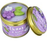 Bomb Cosmetics Ďakujem ti - Thanks A Bunch vonná prírodné, ručne vyrobená sviečka v plechovej dóze horí až 35 hodín