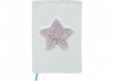 Albi Blok chlpatý Hviezda ružová 16 cm x 22 cm