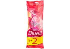 Gillette Lady Blue II Women Jednorazová holítka sa zvlhčujúcim pásikom 5 + 2 kusy
