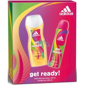Adidas Get Ready! for Her deodorant sprej 150 ml + sprchový gel 250 ml, dárková sada