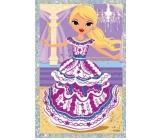 Vyškrabávací obrázok bábiky tancujúce 21,5 x 11 cm