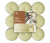 Bolsius Aromatic Tasty Vanilla s vůní vanilky vonné čajové svíčky 18 kusů
